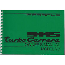 Porsche Turbo Carrera Owners & Maintenance & Warranty Manuals 1977 WKD467221