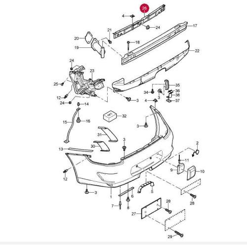 Porsche 997 C2s Engine Problems: Porsche 997 Bumper Trim Center Rear 99750564102