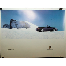Porsche Poster 996 Carerra Four Cab 4WD Purple Top Down