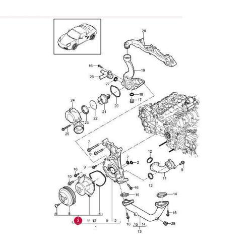 Porsche 997 C2s Engine Problems: Porsche 997 987 Boxster Water Pump 9A110604801