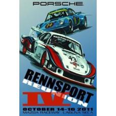 Porsche Rennsport Reunion 4 Poster Laguna Seca Oct 14 to 16