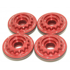 Porsche 997 GT3 GT2 Center Lock Wheel Nuts 99736108192 RED