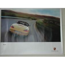 Porsche Poster Boxster Yellow