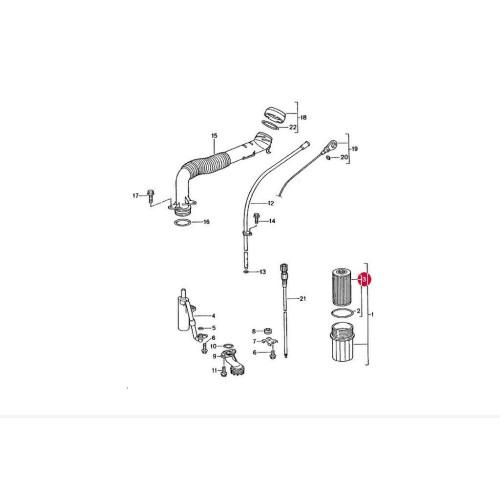 porsche 996 oil filter 99610722560