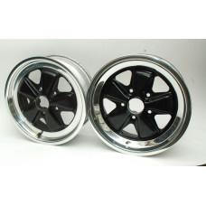 Porsche 911 Fuchs Wheel SET 16x6 91136211300 &  16x7 91136211500 Polished Lip