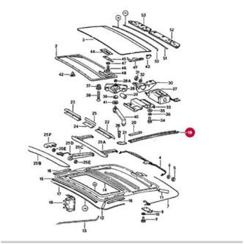 porsche 911 sunroof guide 91156404101