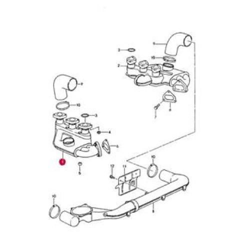 Porsche 993 Heat Exchanger 99321104007 R Bischoff