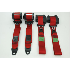 Porsche 993 964 Seat Belt Set RED 99380302100N13 96480303304N13