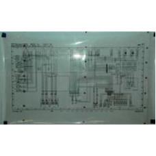 Porsche Poster, Schematic 993 Engine Wiring