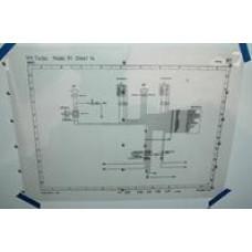 Porsche Poster, Schematic 965 Air Bag Wiring