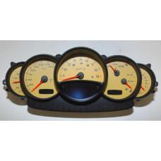 Porsche 996 GT3 Instrument Cluster Manual 9966412139270C Yellow Face
