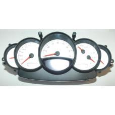Porsche 996 Instrument Cluster White Face9966419817470C 6128 mls